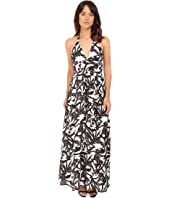 BB Dakota - Larissa Lotus Printed Reverse Crepon Strappy Maxi Dress