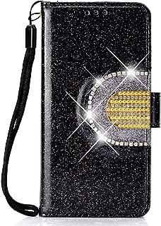 5 Kartenf/ächer Felfy Kompatible mit Galaxy A7 2018 H/ülle,Kompatible mit Galaxy A7 2018 Handyh/ülle Leder Magnet Flip Case 3D Glitzer Diamant Strass Lederh/ülle Brieftasche mit EIN Spiegeln,Scwharz
