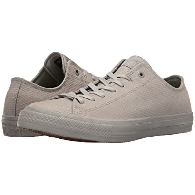 Converse Chuck Taylor(r) All Star(r) II Mono Lux Leather Ox (Dolphin/Dolphin/Gum) Classic Shoes