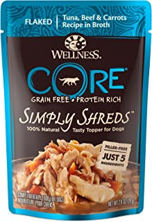 Wellness CORE Simply Shreds Natural Grain Free Tuna, Beef & Carrots Wet Dog Food Topper