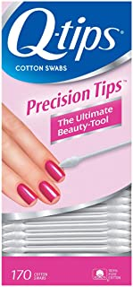 Q-tips Cotton Swabs For Hygiene and Beauty Care Q Tips Precision Cotton Tips Cotton Swab Made With 100% Cotton 170 Count,...