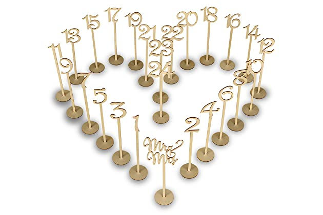 Best Wedding Numbers For Tables Amazon
