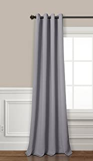 PimpamTex cortina opaca térmica aislante blackout para salón, dormitorio y habitación, con 8 ojales, 140 x 260 cm, modelo Mary (Gris Perla)