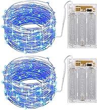 AMIR (Versão atualizada) Luzes de Fada de Cordas, 100 LED 33FT Mini Luzes de Fio de Cobre Starry Lights Powered, Luzes Dec...