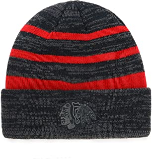 OTS NHL Men's Black Line Cuff Knit Cap