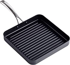 Cooks Standard Hard Anodized Nonstick Square Grill Pan, 11 x 11-Inch, Black