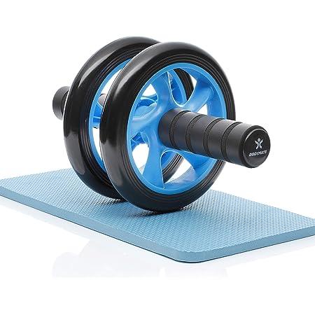 per Il Fitness e lallenamento dei Addominali//Muscoli delle Spalle//Muscoli delle Braccia Ab Roller Ruota Allenamento con Tappetino per Le Ginocchia AB Roller Addominali ab Wheel
