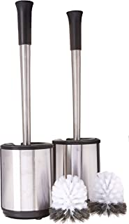 Polder Stainless Steel Toilet Brush Caddy, 2 Pack