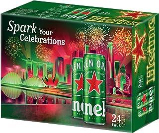 Heineken Lager Beer Can Celebrations Pack, 320ml (Pack of 24)