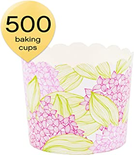Simply Baked CLG-135C Paper Baking Cup, 500-Pack, Pink Floral
