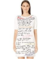 Boutique Moschino - Plush Script Print Short Sleeve Dress