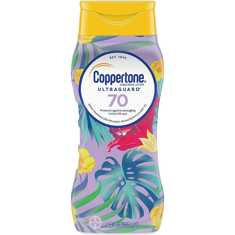 賢いカード正統派Coppertone ウルトラ警備隊日焼け止めローション広域スペクトルSPF 70、8液量オンス