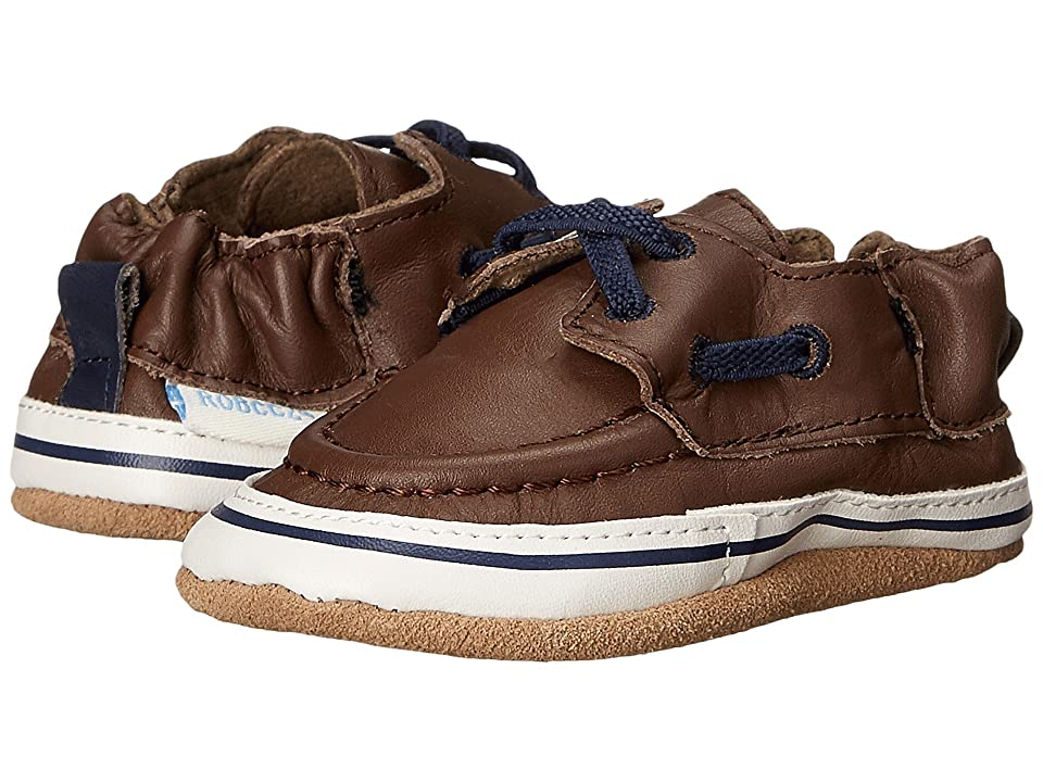 Robeez Connor Soft Sole (Infant/Toddler) (Brown) Boys Shoes