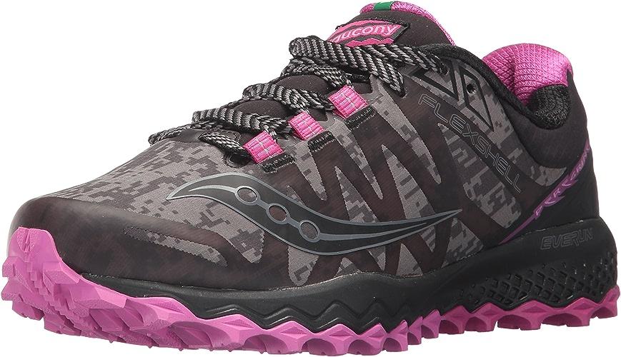 Saucony Wohommes Peregrine 7 Runshield Running chaussures, noir rose, 11.5 Medium US