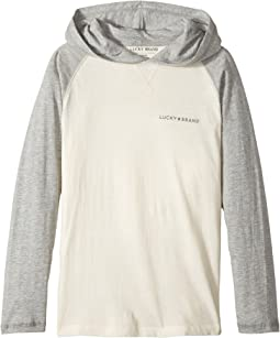 Lucky Brand Kids - Long Sleeve Raglan Hoodie Tee (Big Kids)