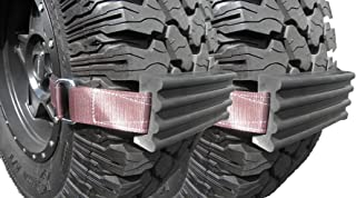 Trac-Grabber - Snow, Mud and Sand Tire Traction Device, Set of 2 - For Oversized Trucks/Suvs, Easy to Install - A Snow Chain, Snow Tire and Snow Traction Mat Alternative - Get Unstuck With TracGrabber