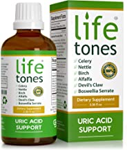 Lifetones Uric Acid Support - All Natural Herbal Cleanse for Healthy Uric Acid Levels - Joint and Muscle Pain Relief - 3.38 fl oz