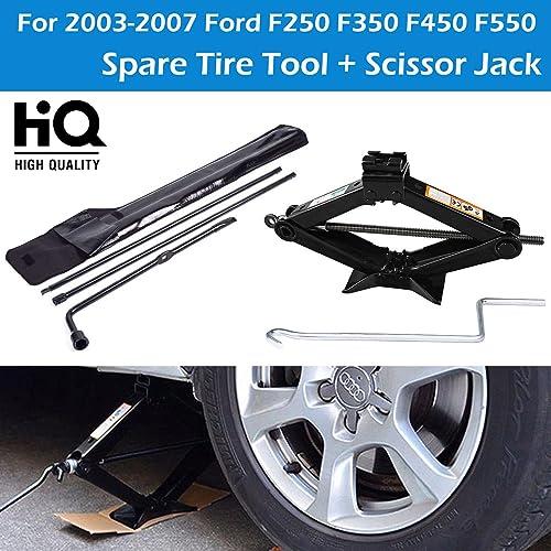high quality Bowoshen Spare Tire Lug Nut Wrench Handle Kit + 2 Tonne Scissor Jack for lowest Ford F250 outlet online sale F350 F450 sale
