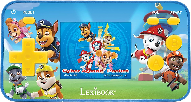 LEXIBOOK- Paw Patrol La Patrulla Caninca Chase Cyber Arcade Pocket Consola portátil, 150 Juegos, LCD, con Pilas, Azul/Rojo