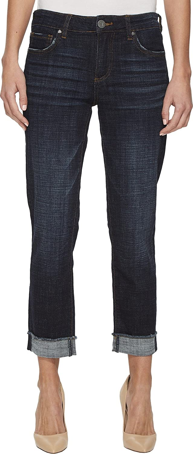 KUT from the Kloth Amy Crop Straight Leg-Roll Up Frey Jeans