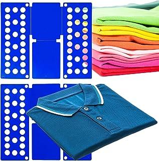 MovilCom® Doblador de Ropa, doblador de Camisas, Tabla para Doblar Camisas, Laundry Folder Azul