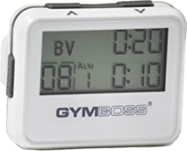 Gymboss Interval Timer and Stopwatch - White/Gray Gloss