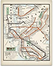 1925 New York City MTA Subway Lines Art Print - 11x14 Unframed Art Print - Great Vintage Home Decor Under $15
