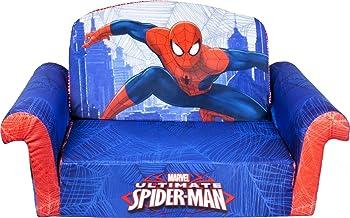 مبلمان Marshmallow ، کودک 2 در 1 Flip Open Foam Sofa، Marvel Spiderman، by Spin Master