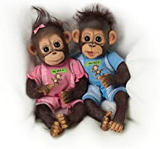 The Ashton-Drake Galleries Poseable Twin Baby Monkey Doll Set By Cindy Sales: He Did It, She Did It