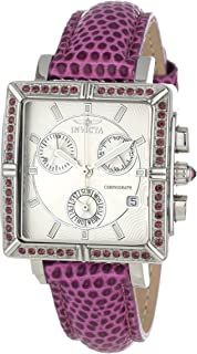 Invicta 10335 Women's Wildflower Classique Quartz Crystal Accented Purple Watch w/ 7-Piece Leather Strap Set