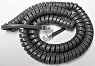 25 Pack of Medium Gray 12' Ft Handset Cords for Avaya Phone Definity 6400 Series 6408 6416 6424 6408D 6416D 6424D Partner 6 6D 18 18D 34D MLS 6 12 12D 18D 34D Digital Curly Coil Lot by DIY-BizPhones