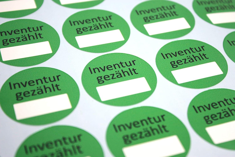 120 Industrieprofi Inventur Etikett AufkleberInventur gez/ählt auf abl/ösbarer Folie 35 x 35 mm