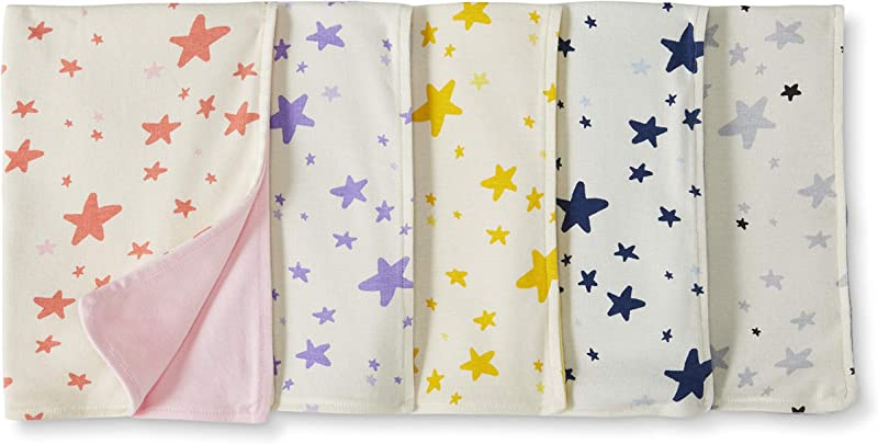 Moon And Back By Hanna Andersson Baby 5 Pack Organic Cotton Reversible Burp Cloth