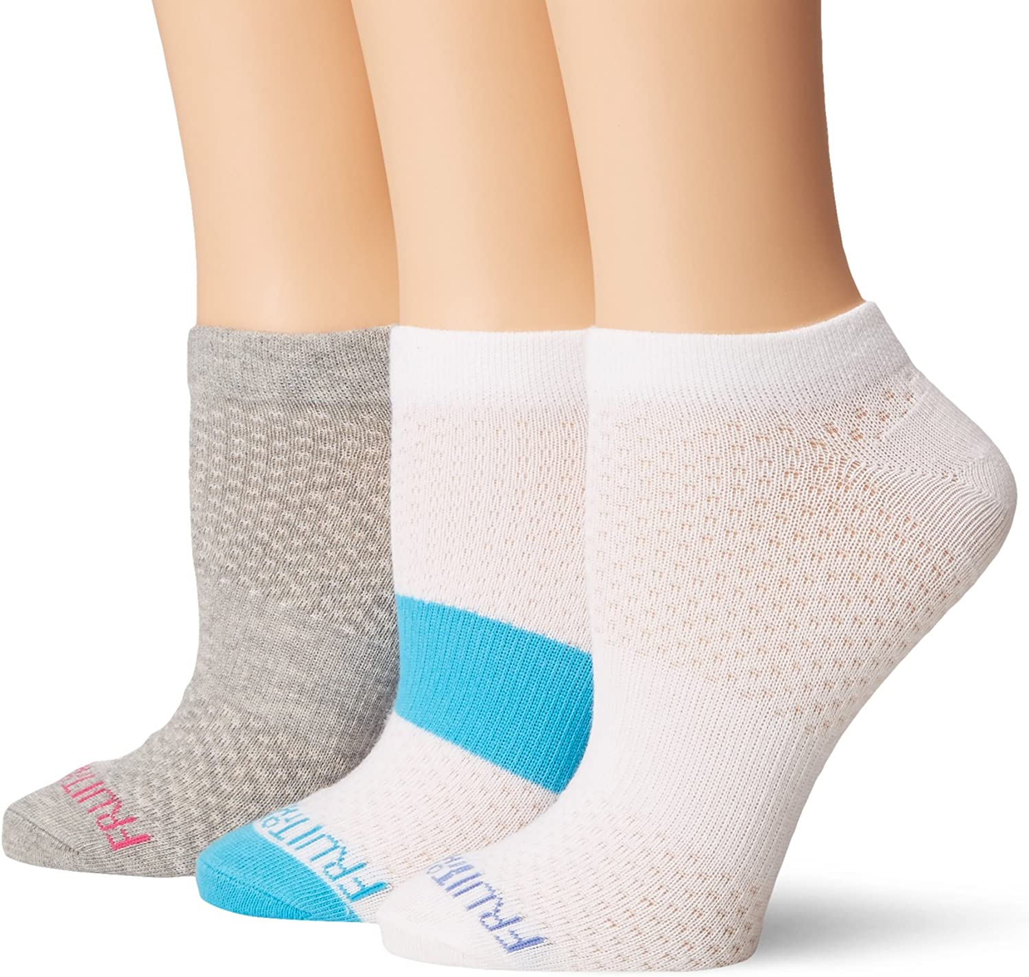 Fruit of the Loom womens 3 Pack Breathable No Show Sock