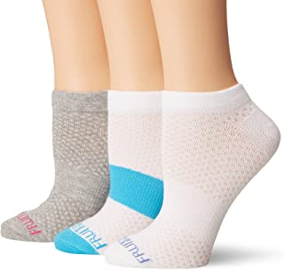 Fruit of the Loom Women's 3 Pack Breathable No Show Sock