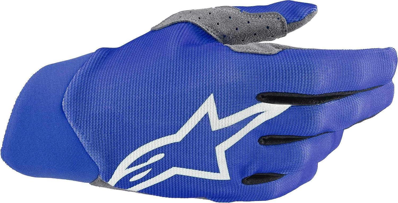Medium Blue Alpinestars Mens Dune Motorcycle Riding Glove