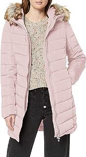 Only Onlellan Quilted Hood Fur Coat Otw Chamarra de Plumas Alternativa para Mujer