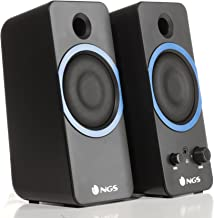 NGS GSX-200 Altavoz 20 W Black - Altavoces (2.0 Channels, Wired, 3.5 mm, 20 W, Black)