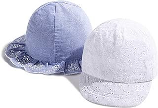 accsa Baby Girl Sunhat Soft Peak Baseball Cap and Chambray Bucket Hat Age 6-18M