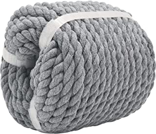 100% Cotton Rope (1/2 inch x 100 feet) Natural Strong Cotton Rope for Crafts, Home Decorating,Railings,Hanging Flower Bask...