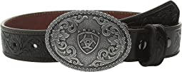 Embossed Oval Shield Buckle Belt (Little Kids/Big Kids)