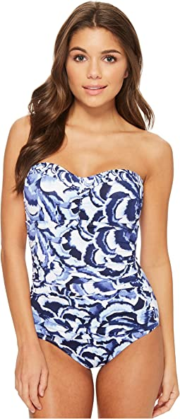 Tommy Bahama Pansy Petals Bandeau One-Piece Swimsuit