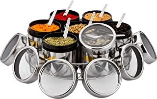 MARU 7 in 1 Multipurpose Stainless Steel Masala Dabba Wire Stand| Masala Box for Kitchen | Spice Box Steel | Spice Contain...