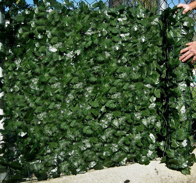 Best Artificial (TM) englische Efeu-Schutzwand, 3m x 1,5m, Sichtschutz   Hecke, Landschaftsgartenzaun,  UV-Bestendig, verblasst nicht