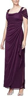 Women's Long Cold Shoulder Dress (Petite and Regular Sizes)