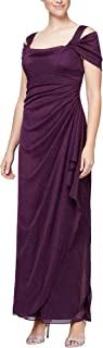 Women's Long Cold Shoulder Dress (Regular and Petite Sizes)