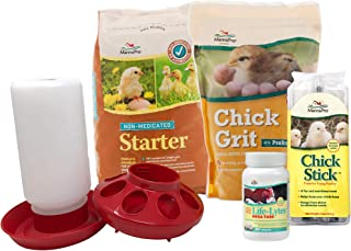 Manna Pro Basic Chick Starter Kit with Food, Supplements, Treats, Feeder and Waterer
