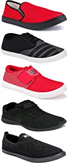 Shoefly Sports Running Shoes/Casual/Sneakers/Loafers Shoes for MenMulticolors (Combo-(5)-1219-1221-1140-725-1074)