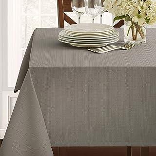 """Benson Mills Textured Fabric Tablecloth (60"""" x 84"""" Rectangular, Grey)"""