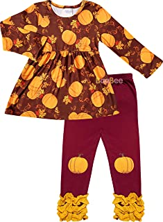 Smocking Bee Boutique Baby Toddler Little Girls Fall Colors Halloween Pumpkin or Thanksgiving Turkey Outfits